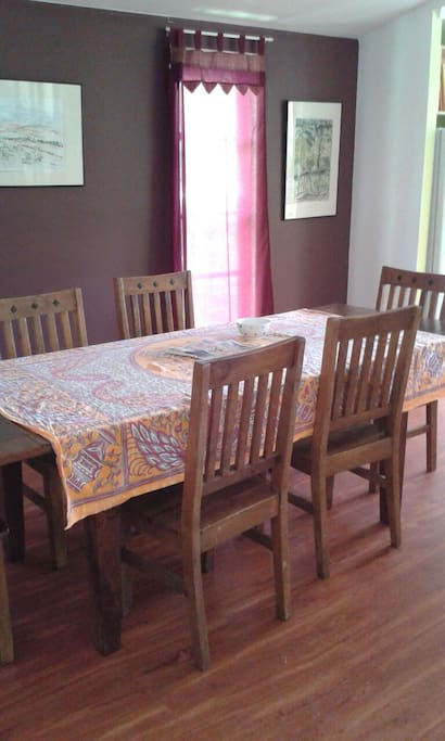 Large family dinning table