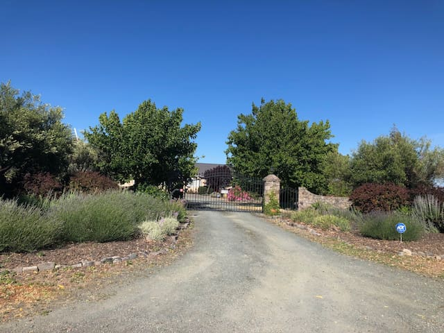 Driveway with Private Gated Entry