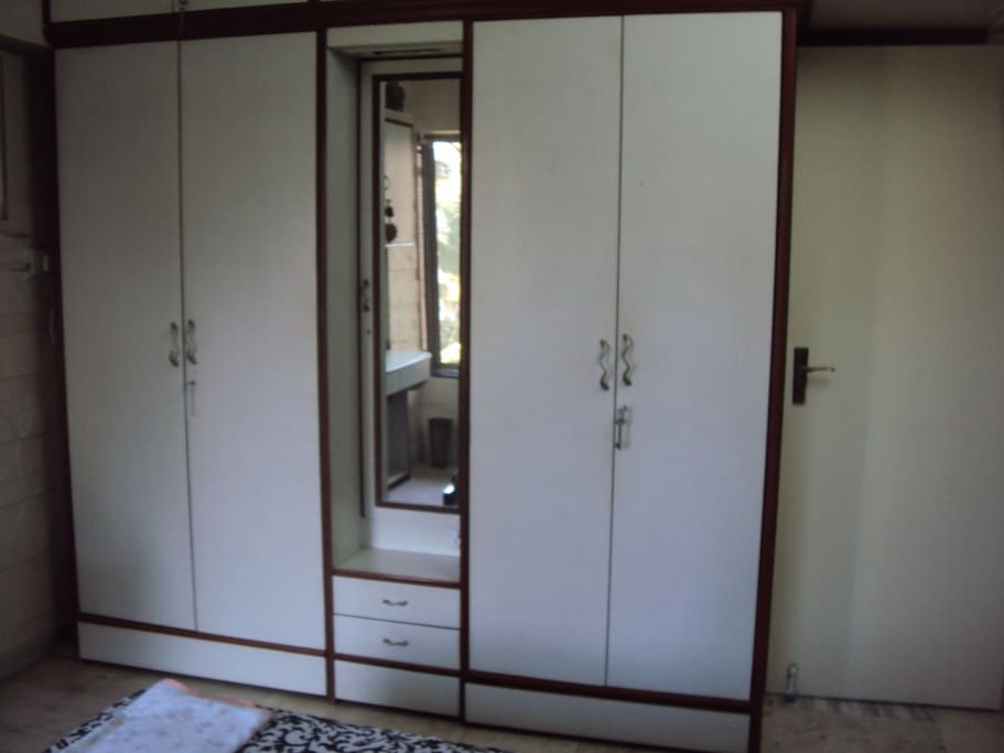 Bedroom with one cupboard