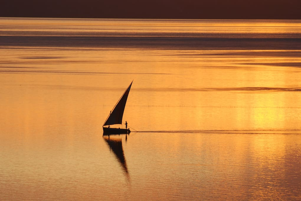 Super African sunsets across the lagoon estuary