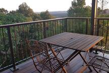 Private deck and balcony