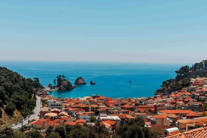 panoramic sea view apartment - Parga (up to 7 pax)