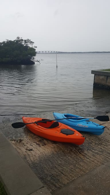 Kayaks included for your use; neighborhood boat ramp