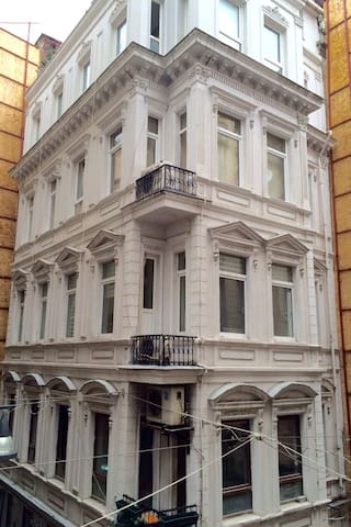 Italian style building made in 1919. Famous writer Ahmet Umit lives on one floor above us.