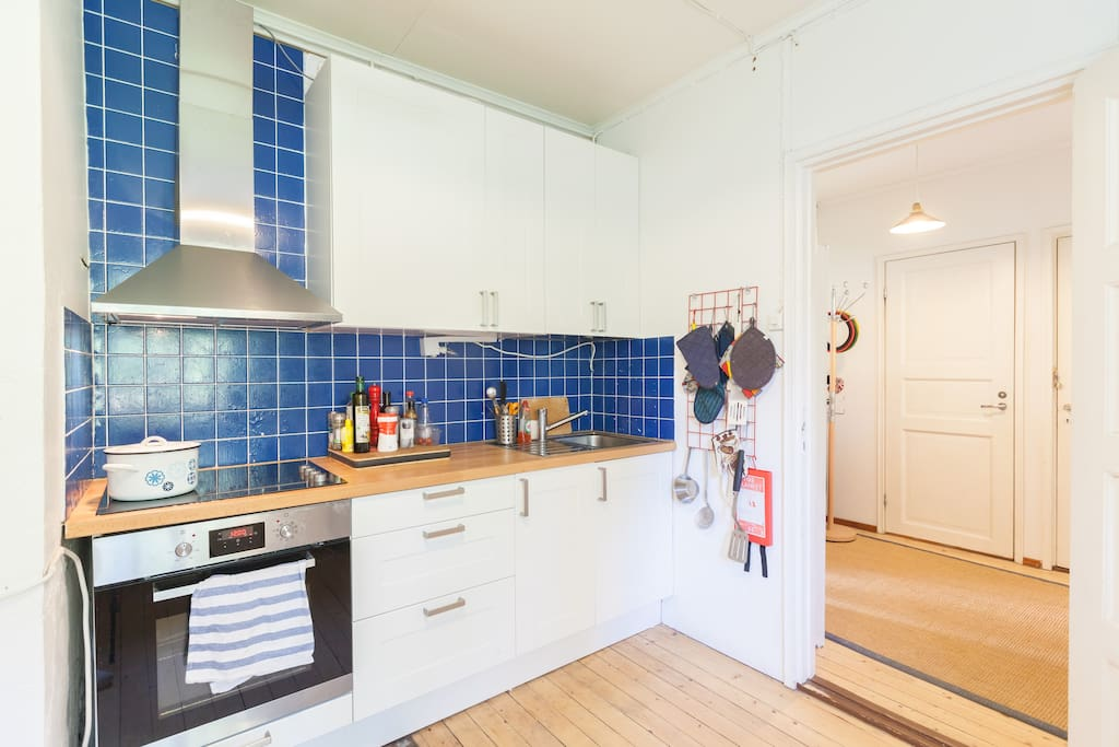 The kitchen has been recently renovated. Amenities include an integrated stove, large refigerator/freezer, and an espresso maker.