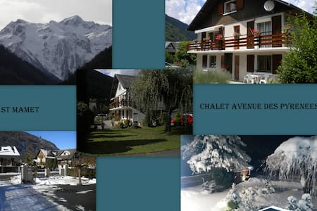 Appartement RdCh de chalet.Expo SUD - Saint-Mamet - อพาร์ทเมนท์