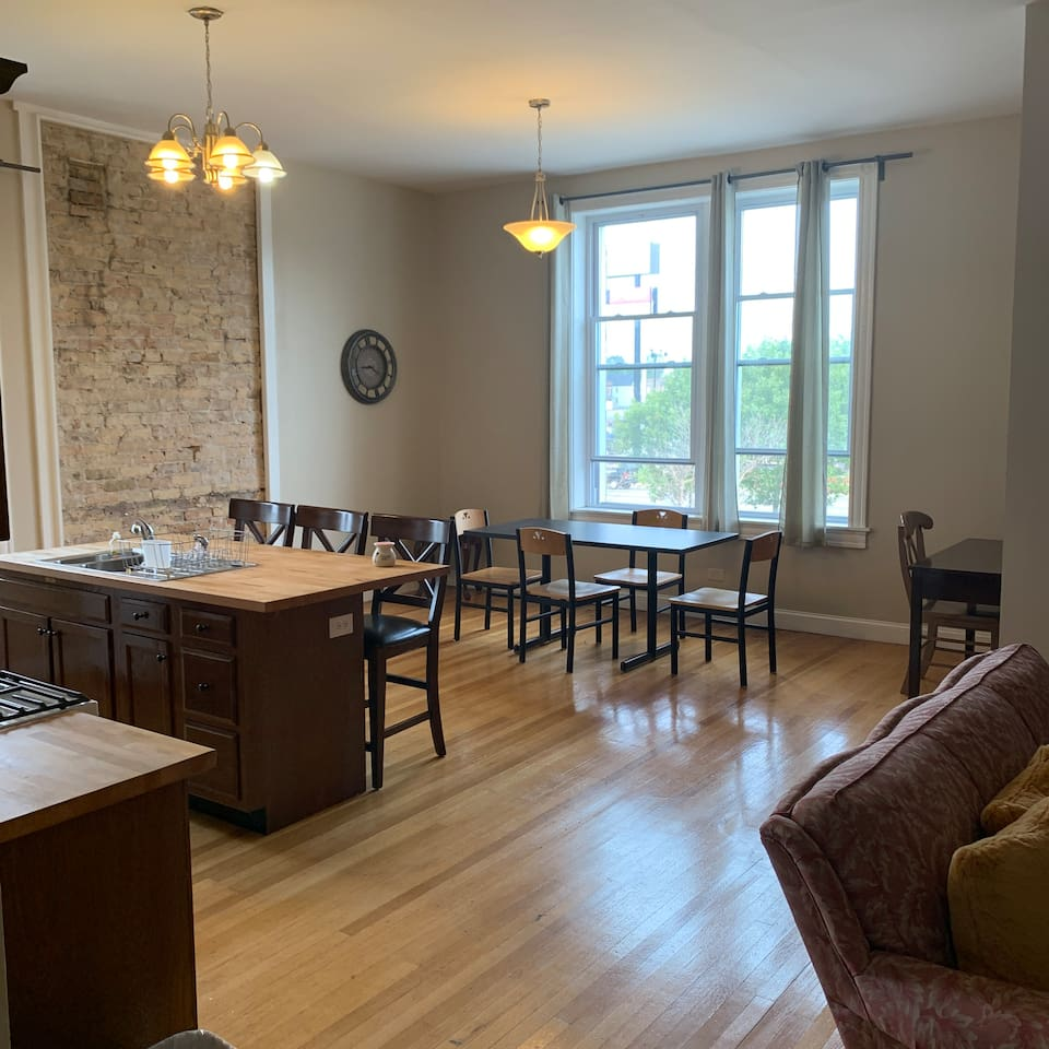View of kitchen as you walk in.