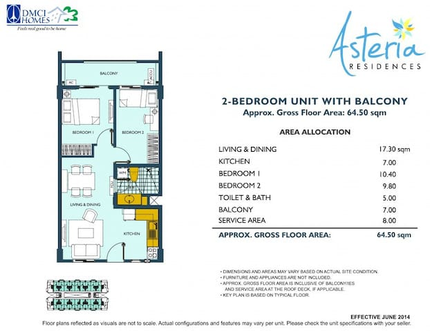 Floor Layout Plan for Unit 205 of Heather Building.....