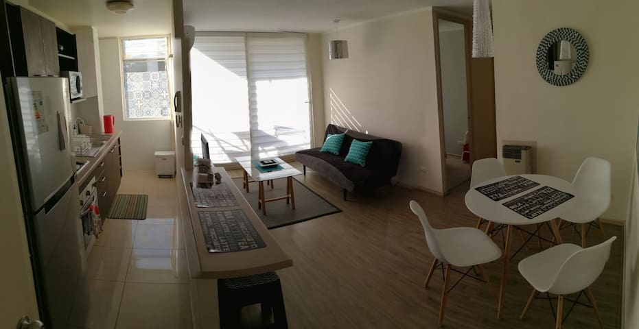 Depto a 5min Outlet Buenaventura - Santigo - Appartement