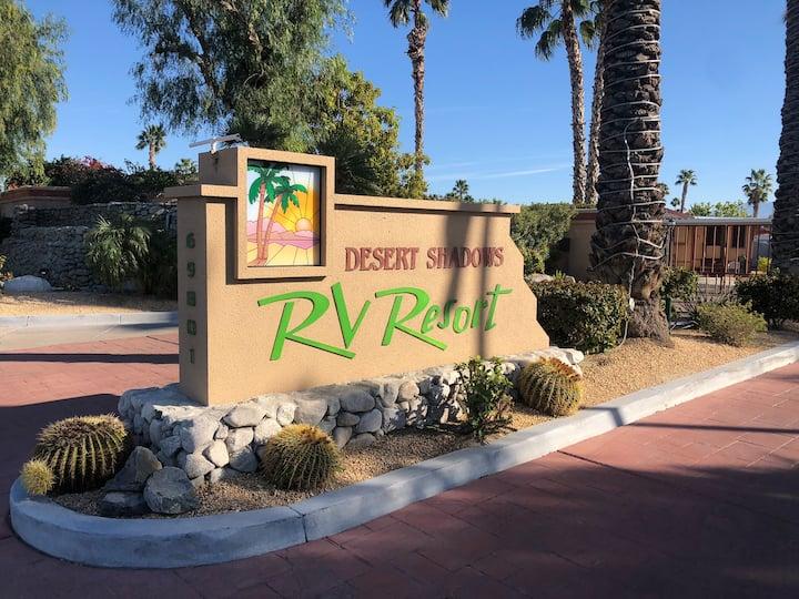"""Desert Shadows Resort RV""""Lot""""for Rent Palm Springs"""