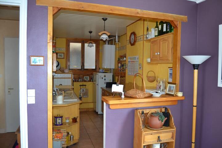 Cuisine ouverte sur la pièce salle/salon