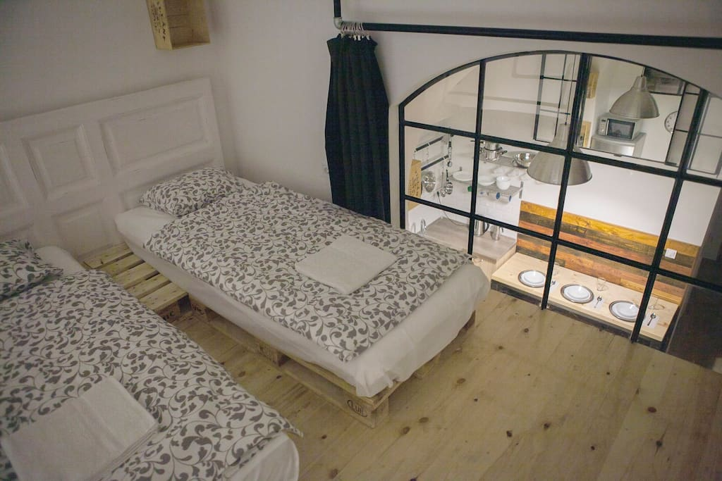 bedroom #1 mezzanine (two single beds can be turned into one double)