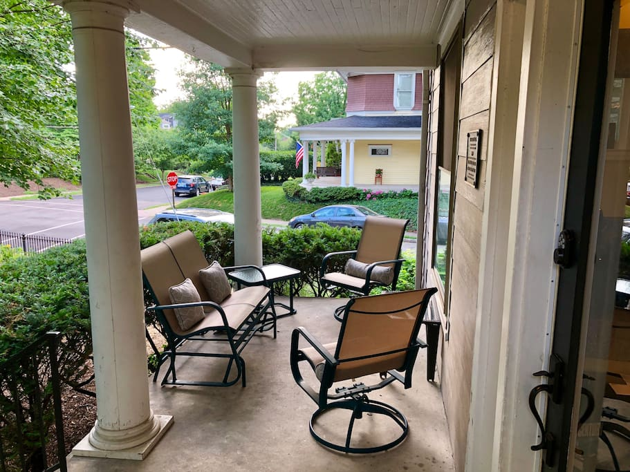 Scenic front porch