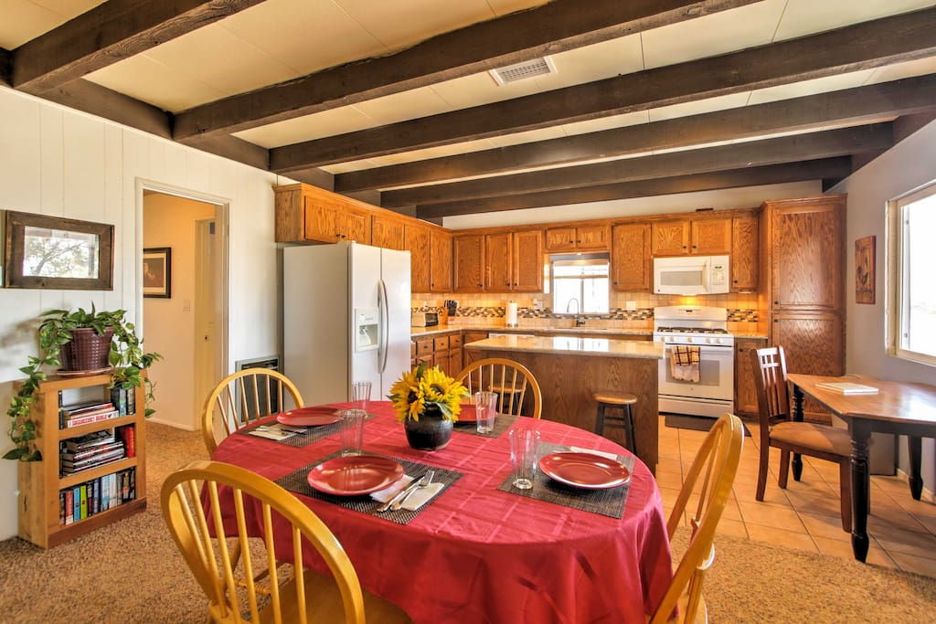 Spend quality family time in the spacious kitchen and dining area.