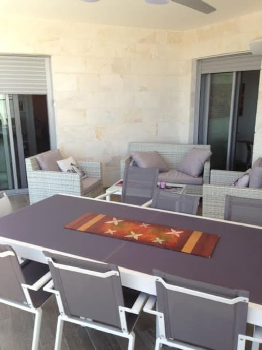 30 m2 balcony with see view