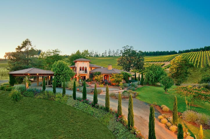 A Tuscan Villa Suite at a Vineyard and Winery!