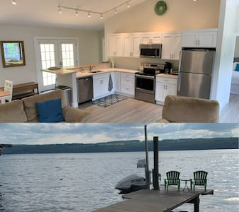 Wolf Den Guest Suite with private dock and beach