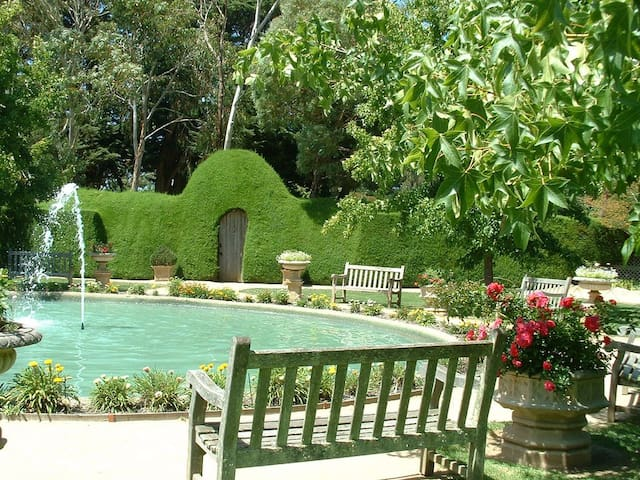 Walk to nearby Ashcombe Maze Gardens and Tearooms for a delightful day out