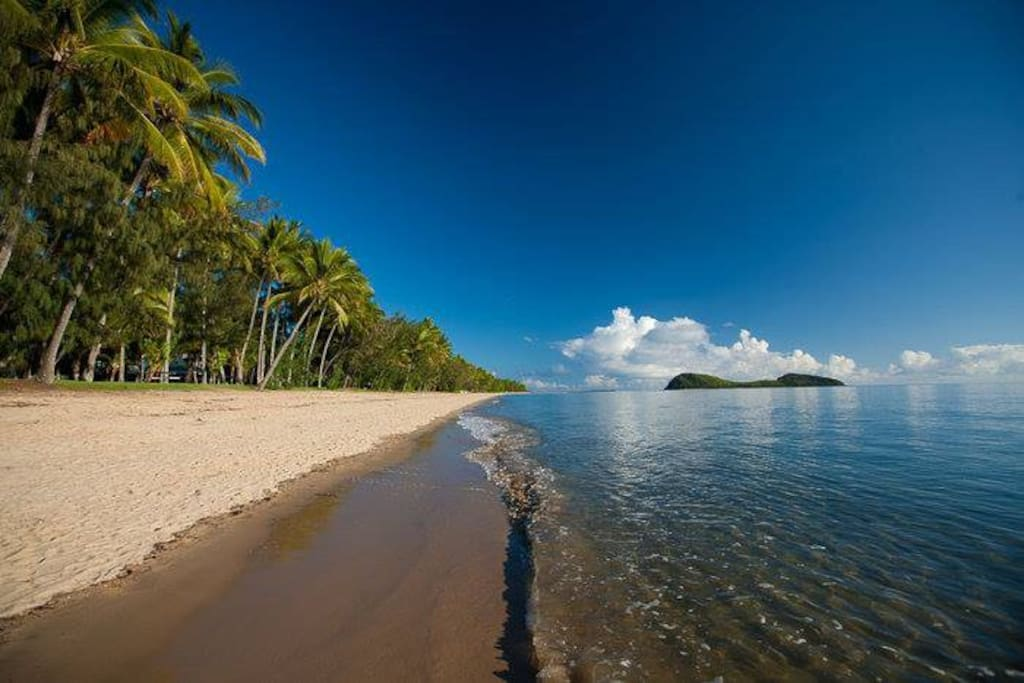 Palm Cove Beach, just 50 meters away