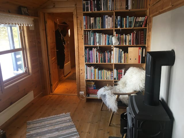 "Stue nummer to, ""bokrommet"". Living room no 2, ""The Library""."