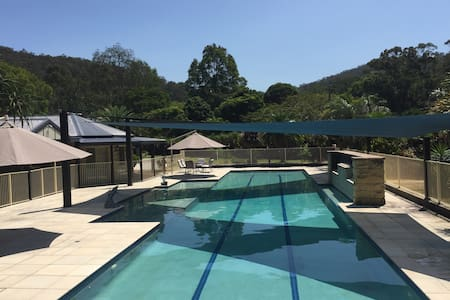 Quiet & Peaceful Secluded Retreat Style Home & Gym - Tallebudgera Valley - Hus