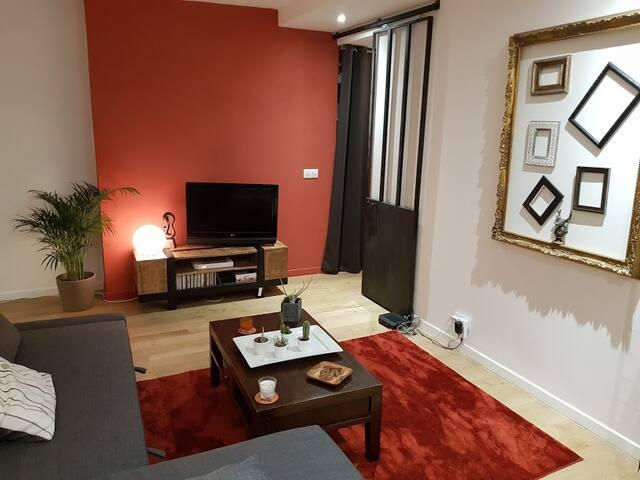 Appartement rénové style loft
