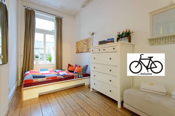 Just 7 minutes from Cental Station & free BIKES - Hamburg - Apartment
