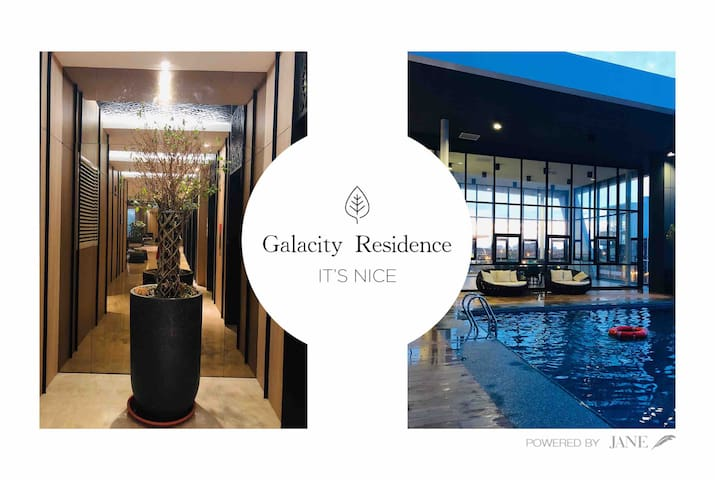 Gala City Infinity Pool Trendy Studio Apartment
