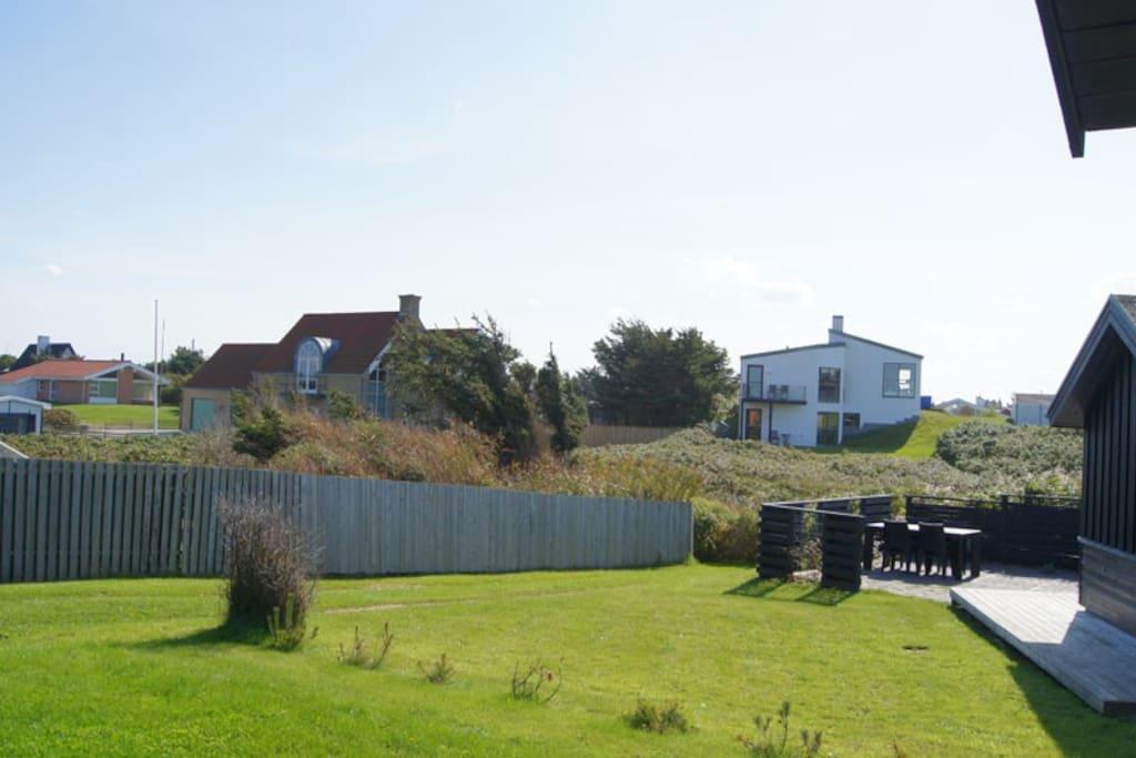 Udsigt fra huset mod syd/øst/View from livingroom direction south/east