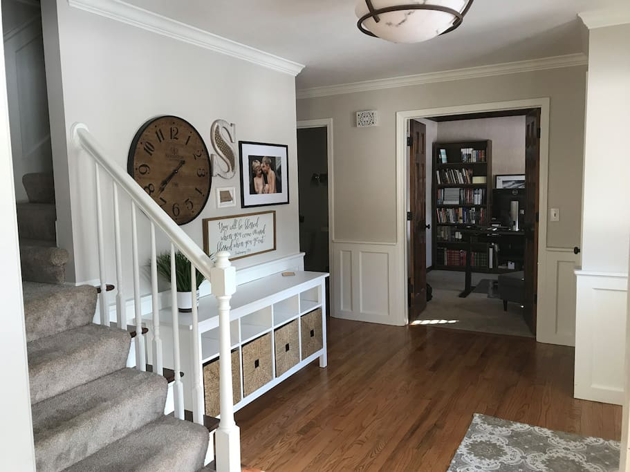 Entry way and office