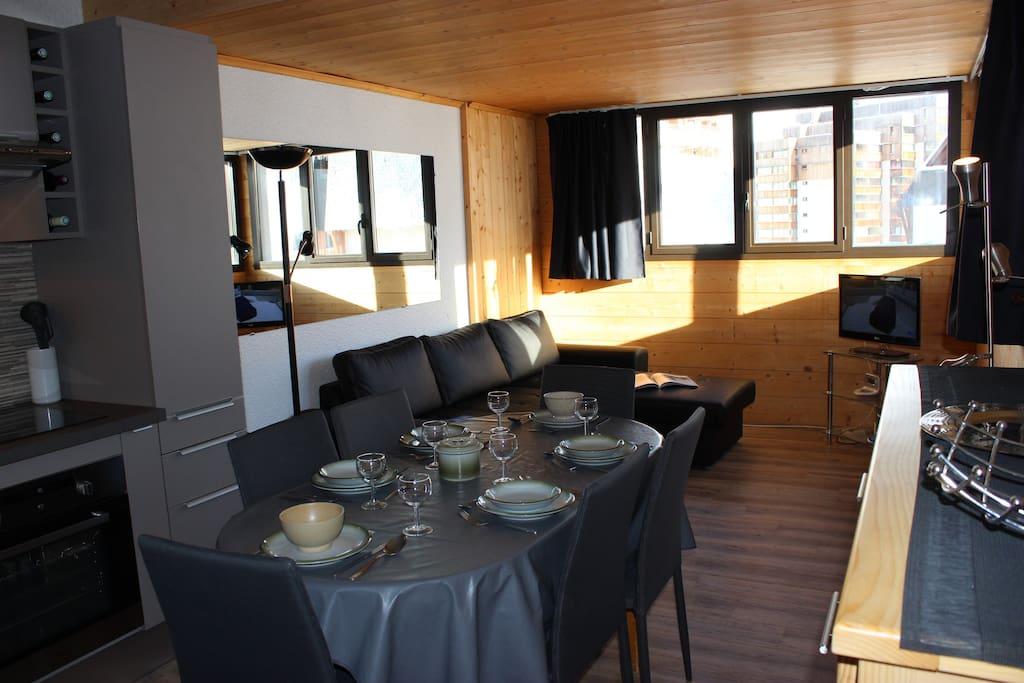 superbe appart spacieux et deco moderne 3 vallees appartements louer saint martin de. Black Bedroom Furniture Sets. Home Design Ideas