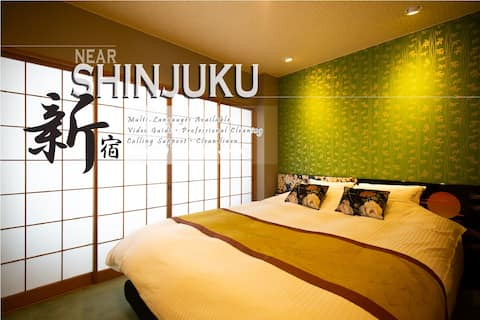 Discount! 3min→Shinjuku!Great access/2pax/wifi