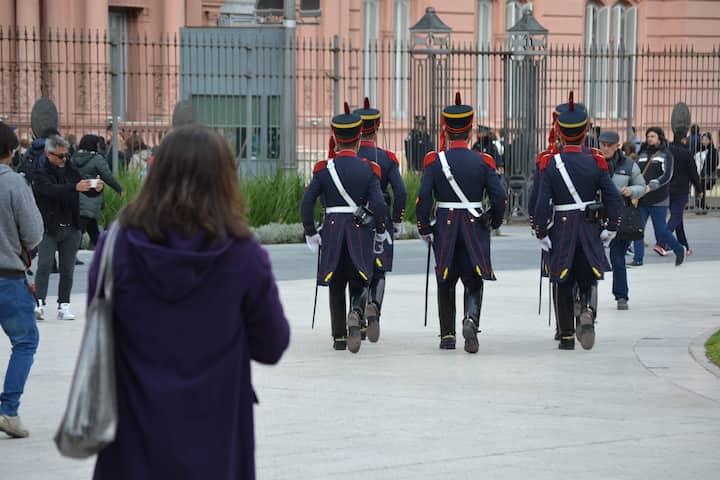 Changing of the Guard at Casa Rosada