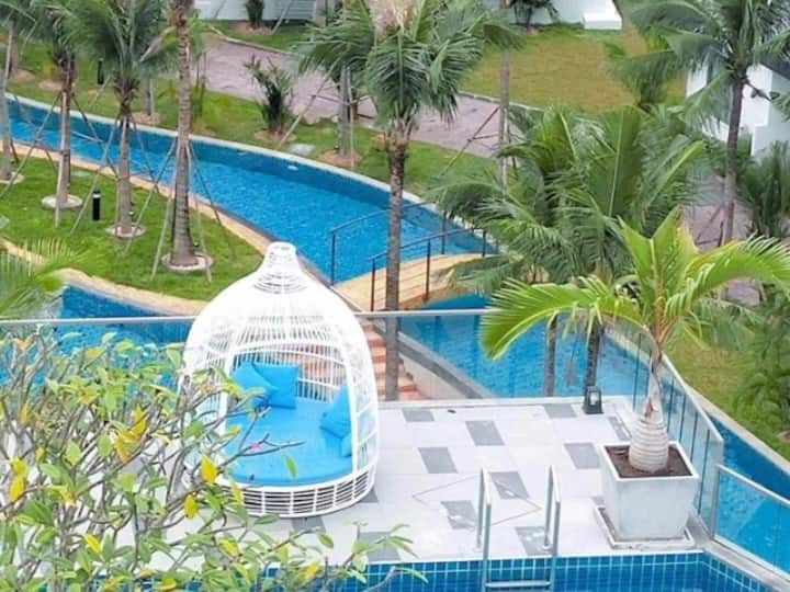 阿卡迪亚水系公寓 大型泳池 无边泳池 民宿 度假屋