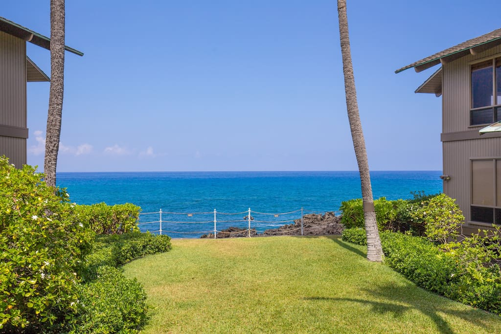 Only Green Grass between your Lanai and the Ocean!