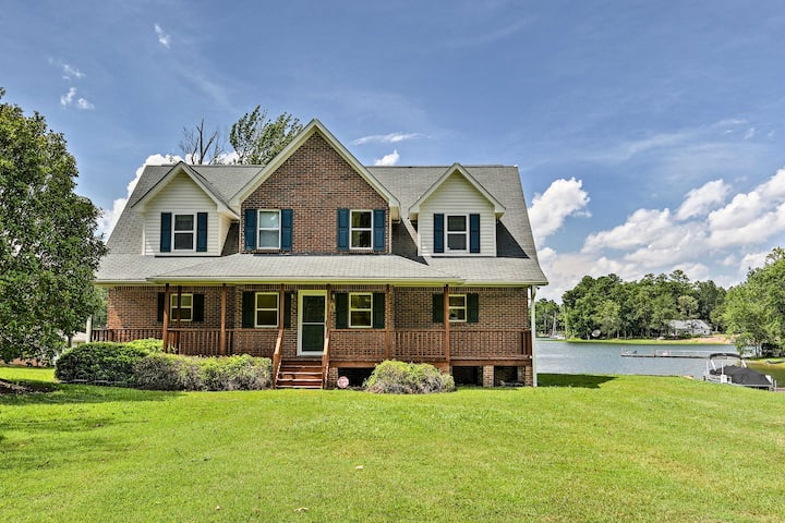 NEW! Waterfront Home on Lake Murray w/Dock + Porch
