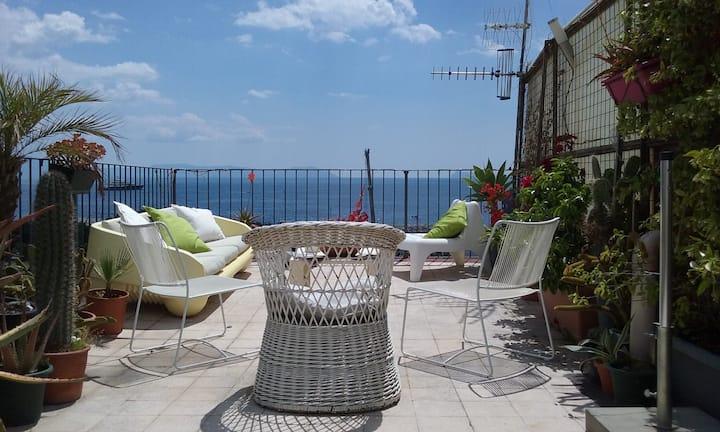 Breathtaking  terrace  apartment in Chiaia