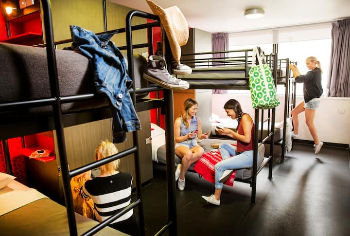 1 Bed in a Female Only 6 Bed Dorm (Shared Bathroom)
