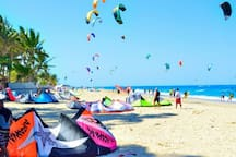 Cabarete offers all different water sports. Surfing, Kite Surfing...