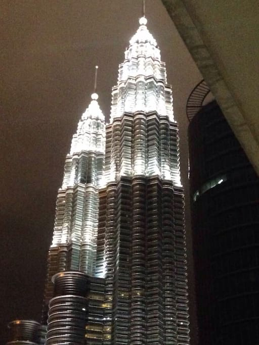 Spectacular KLCC view at night