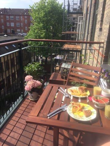 Nice balcony , with morning Sun