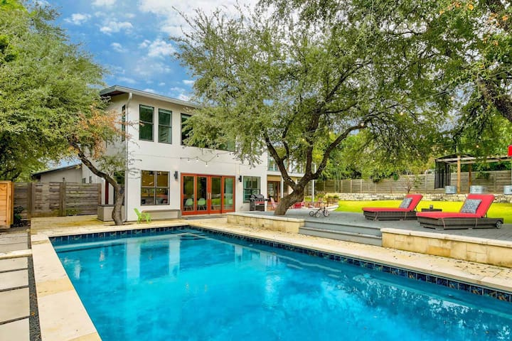 Modern Farmhouse Oasis featured in WSJ w/ Pool 15 Min to Downtown | Professionally Cleaned + Hosted By GuestSpaces
