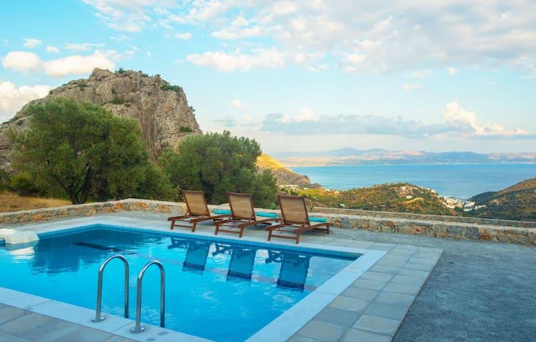 Evgoro Villa Vrahos, amazing sea views! - Rethymno - Villa