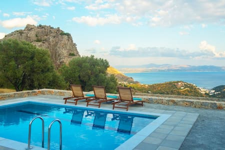 Evgoro Villa Vrahos, amazing sea views! - Rethymno