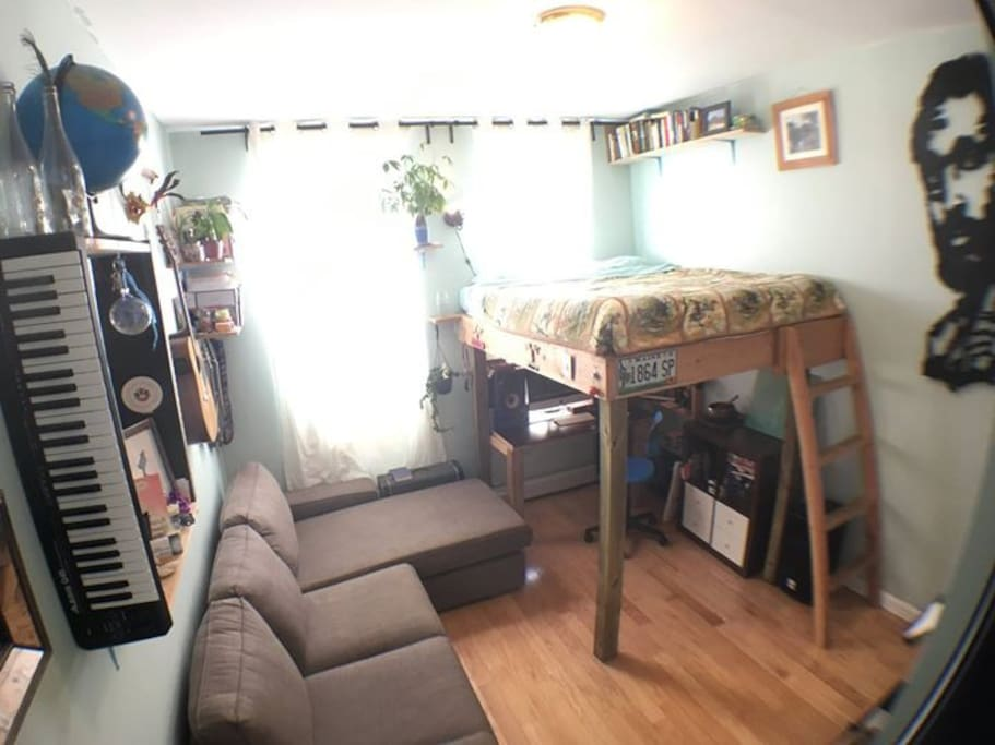 This is the room, full of sunlight!