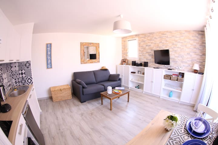 studio cosy+parking privé a 2min a pied de la mer! - Collioure - Appartamento