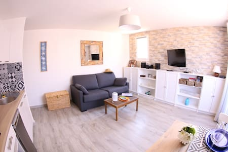 joli studio+parking privé 2min mer - Collioure