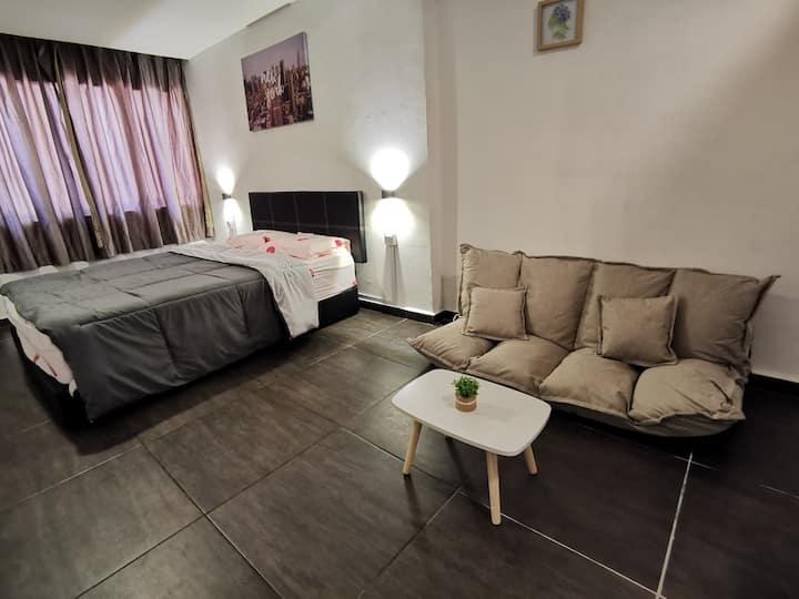 一卧室公寓位于亚庇市中心/离机场近/出行方便WJ HOMESTAY STUDIO APARTMENT
