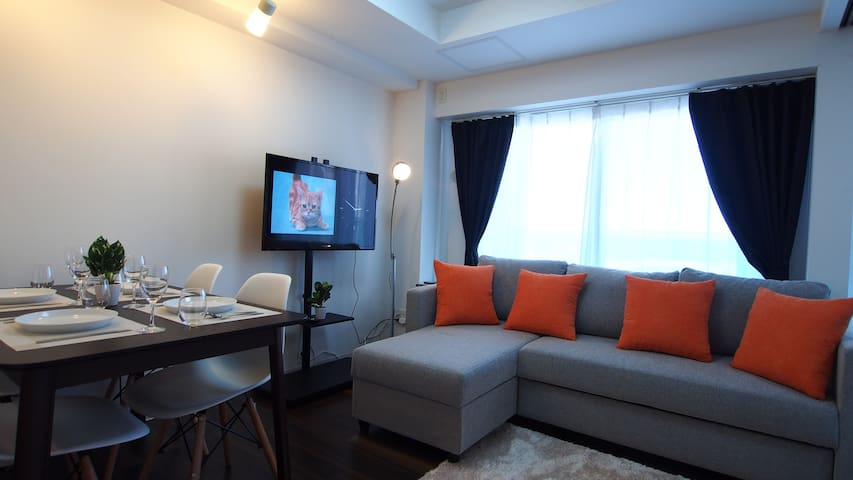 1min Otaru Shops St★1BR#46★Free Parking/WiFi/Kids - Otaru-shi - Apartament