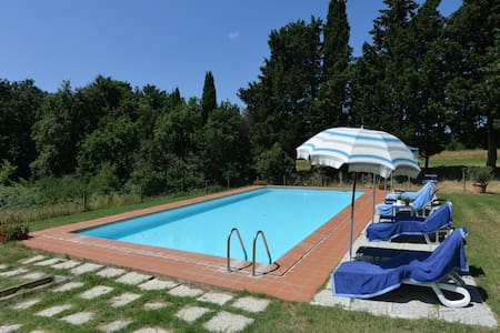 Farmhouse Flat, pool, horses, big Tuscanproperty - Collesalvetti - 公寓